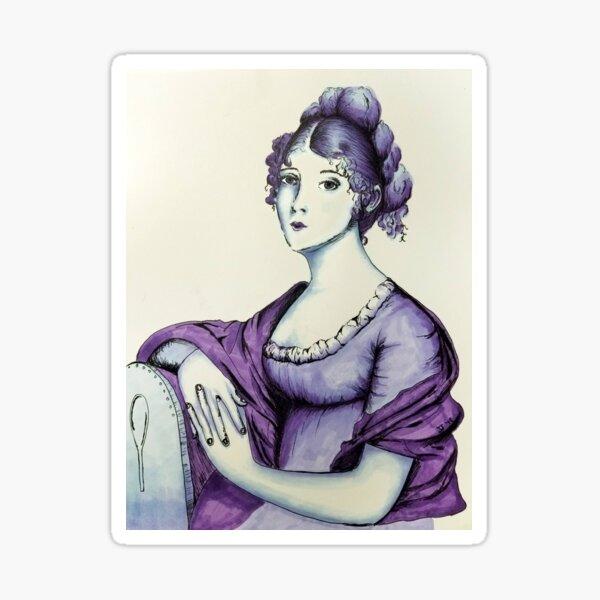 The Purple Lady of 1803 Sticker