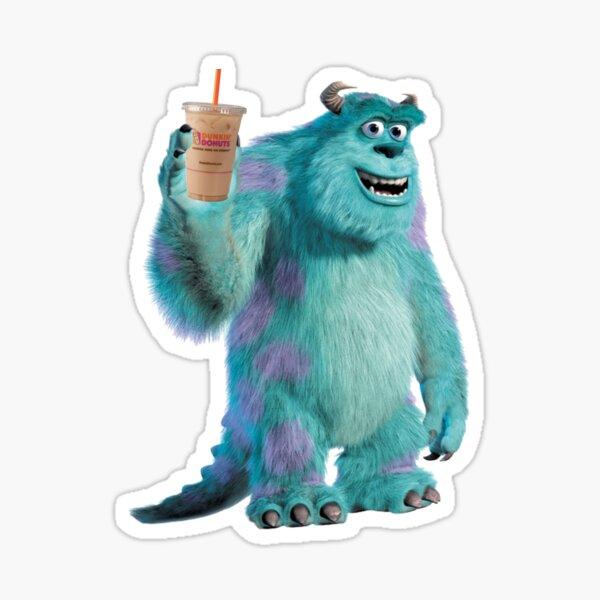 Sulley läuft auf Dunkin Sticker