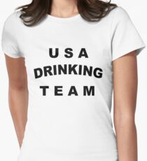 USA DRINKING TEAM Women's Fitted T-Shirt
