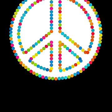 Circled Peace Sign Symbol by popculture
