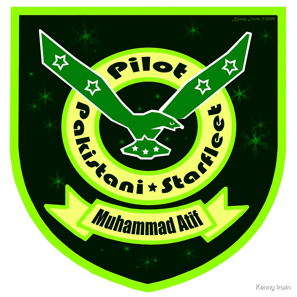 Pakistani Starfleet Elite Robostan Force Pilot Badge by Kenny Irwin