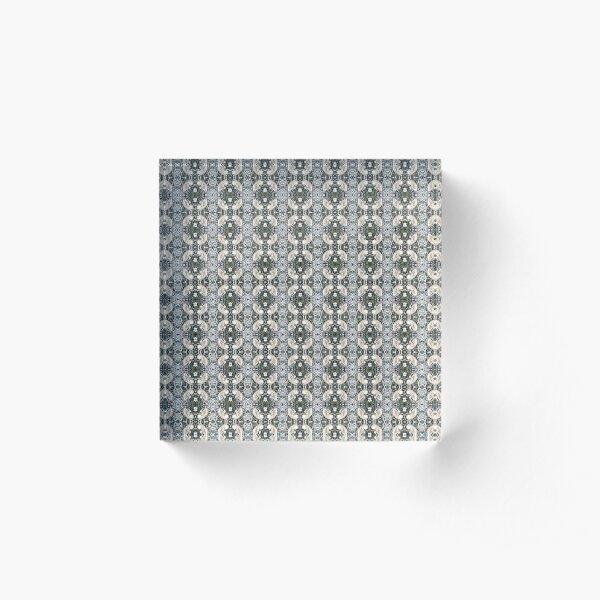 Visual arts, Optical illusion, visual phenomena, structure, framework, pattern, composition, frame, texture Acrylic Block
