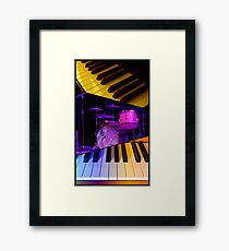 Keyboards and Drums Collage Framed Print