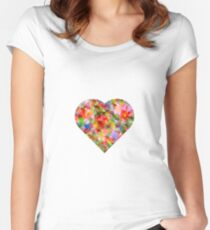 LOVE Women's Fitted Scoop T-Shirt