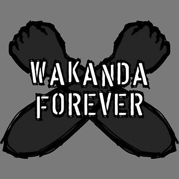 Wakanda Forever Fist Sketch Designs by livstuff