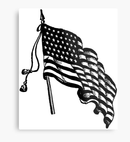 Vintage and Retro American Flag Metal Print