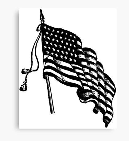 Vintage and Retro American Flag Canvas Print