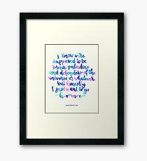 Brave Paladins Framed Print