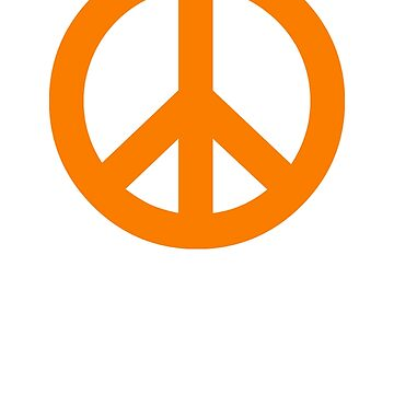 Orange Peace Sign Symbol by popculture