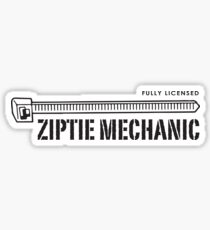 Ziptie Mechanic Sticker