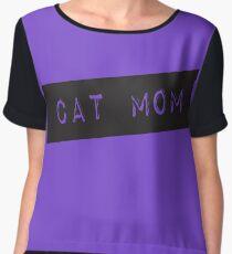 Cat Mom Chiffon Top