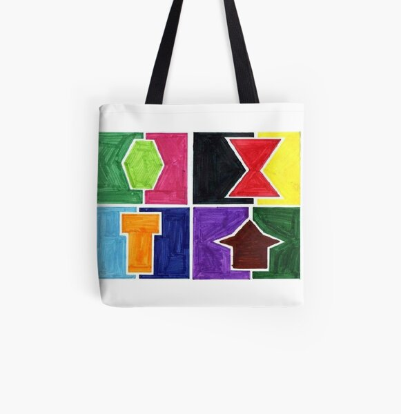 4 Cclors Card (Facemadics colorful iIllustration shape drawing) All Over Print Tote Bag