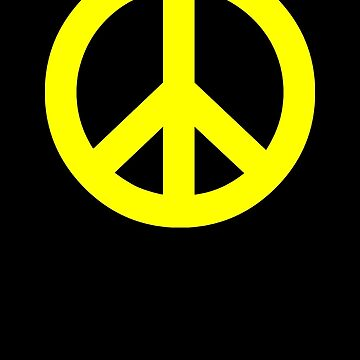 Yellow Peace Sign Symbol by popculture