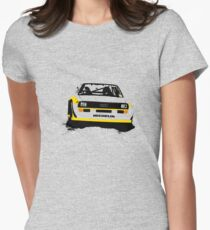 Audi Quattro S1 Rally Car Women's Fitted T-Shirt