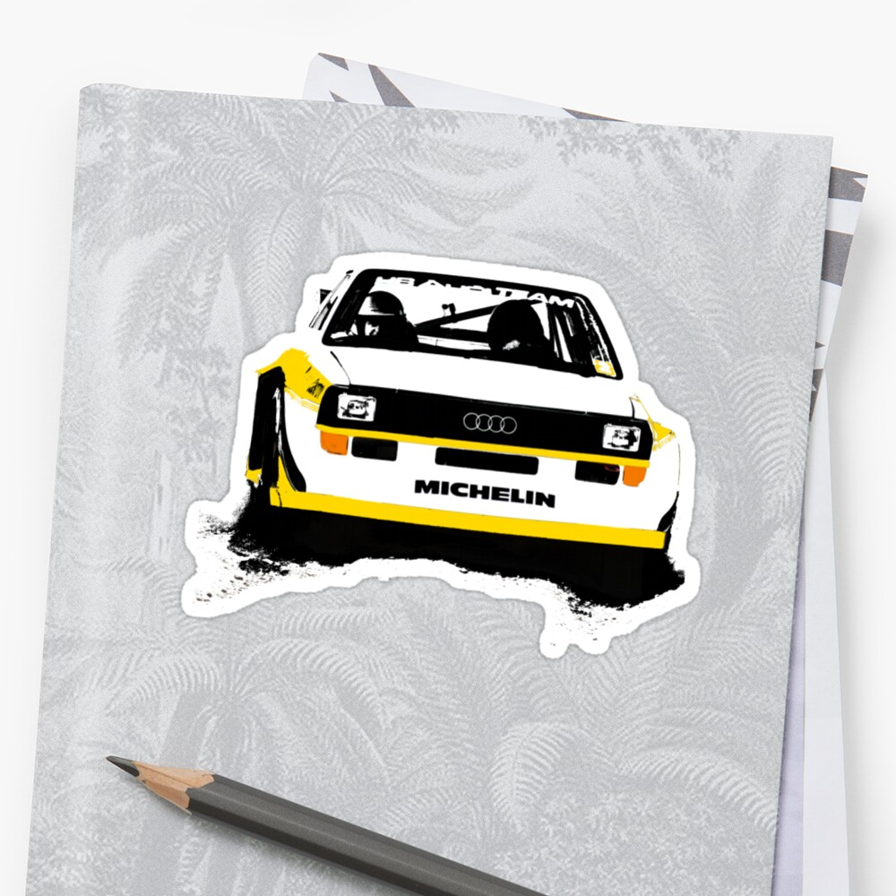 """Audi Quattro S1 Rally Car"" Stickers By Lynchie"