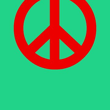Maroon Peace Sign Symbol by popculture
