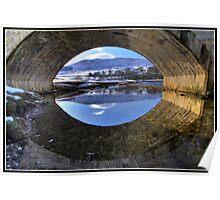 Burnsall Bridge reflection Poster