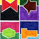 Four Colors Side Ways (Facemadics) by Facemadics