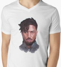 KING KILLMONGER Men's V-Neck T-Shirt