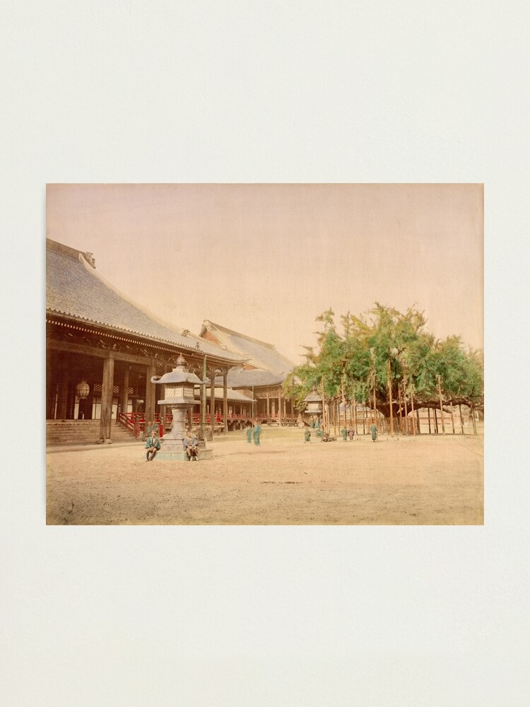 Alternate view of Buddhist temple, Kyoto Photographic Print