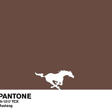 Mustang Brown Pantone by coverinlove