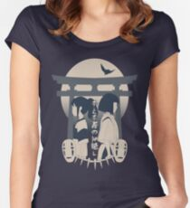Spirited Away (blue) Women's Fitted Scoop T-Shirt