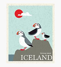 Island Vintage Reise Poster Fotodruck