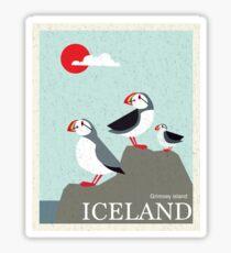 Iceland Vintage Travel Poster Sticker