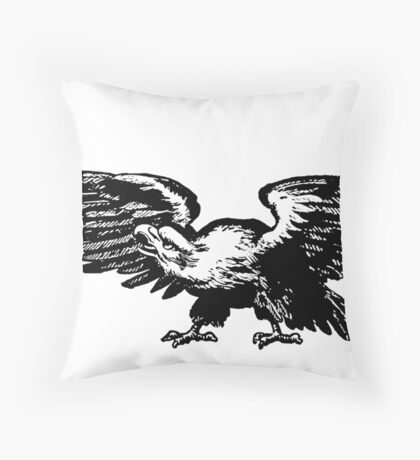 Retro and Vintage American Bald Eagle Throw Pillow