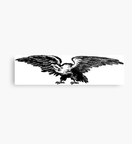 Retro and Vintage American Bald Eagle Metal Print