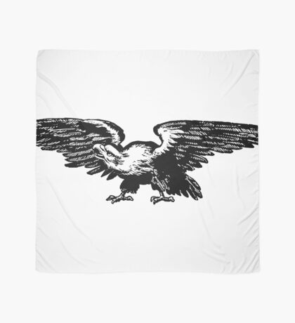 Retro and Vintage American Bald Eagle Scarf