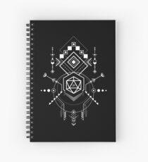 Cuaderno de espiral D20 Dice Symbols Game Master Inspired Mesa RPG Juegos
