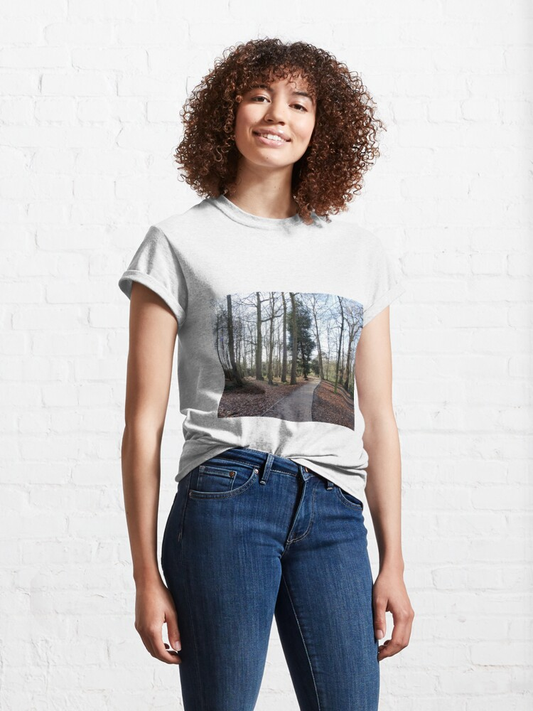 Alternate view of Lovely path and walk in the woods Classic T-Shirt