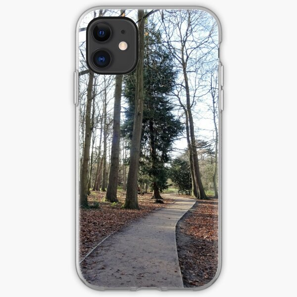 Lovely path and walk in the woods iPhone Soft Case