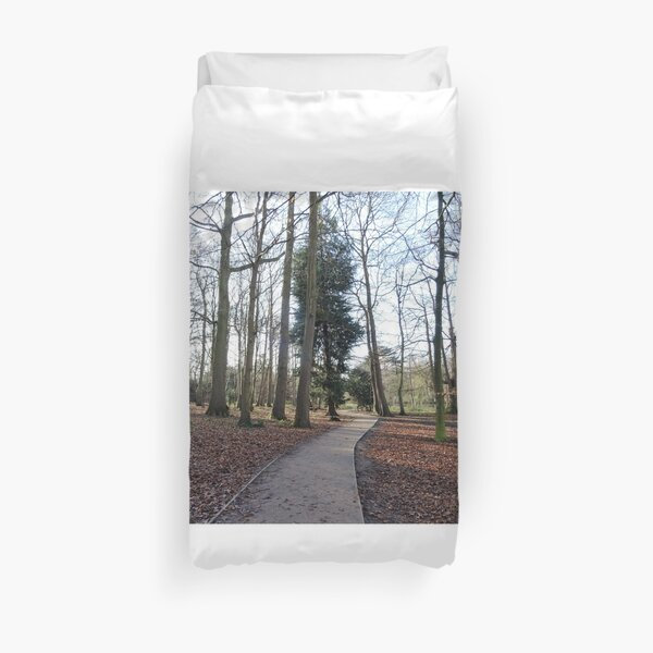 Lovely path and walk in the woods Duvet Cover