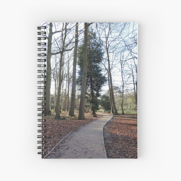 Lovely path and walk in the woods Spiral Notebook