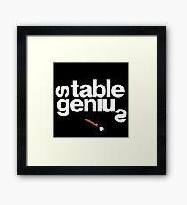 16229-01-BDK – Stable Genius – Resolute (White) Framed Print