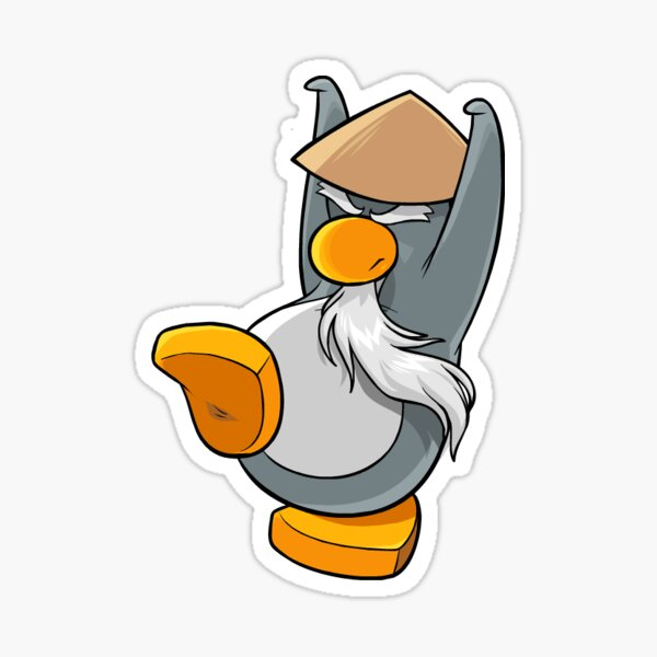 Penguin Old Martial Arts Master (Club Penguin) Sticker