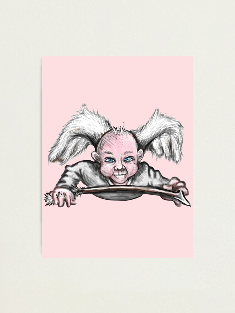 Alternate view of Mischievous Cupid Angel Photographic Print