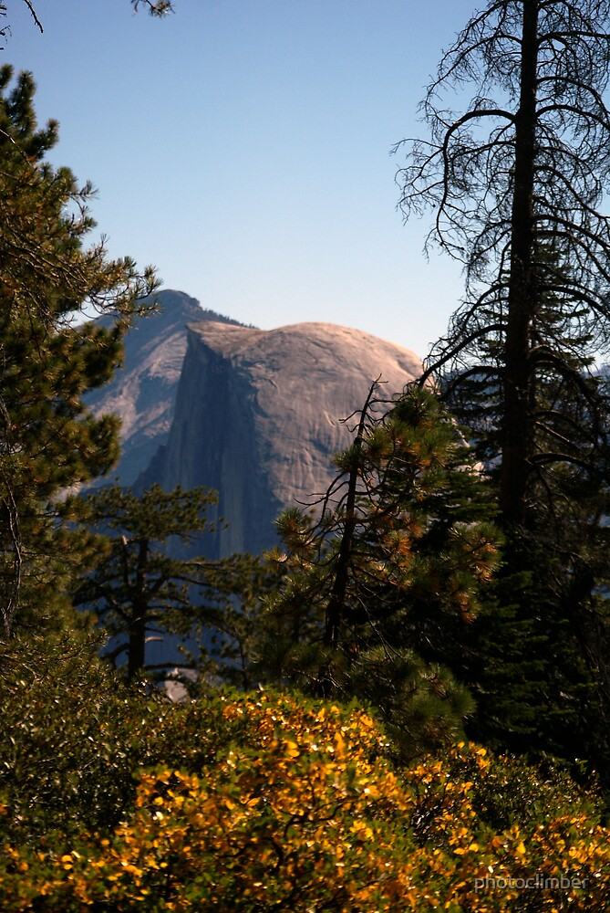 Half Dome in the middle during afternoon sun by photoclimber