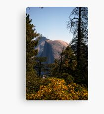 Half Dome in the middle during afternoon sun Canvas Print