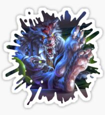 The Werewolf in the Living Room Sticker