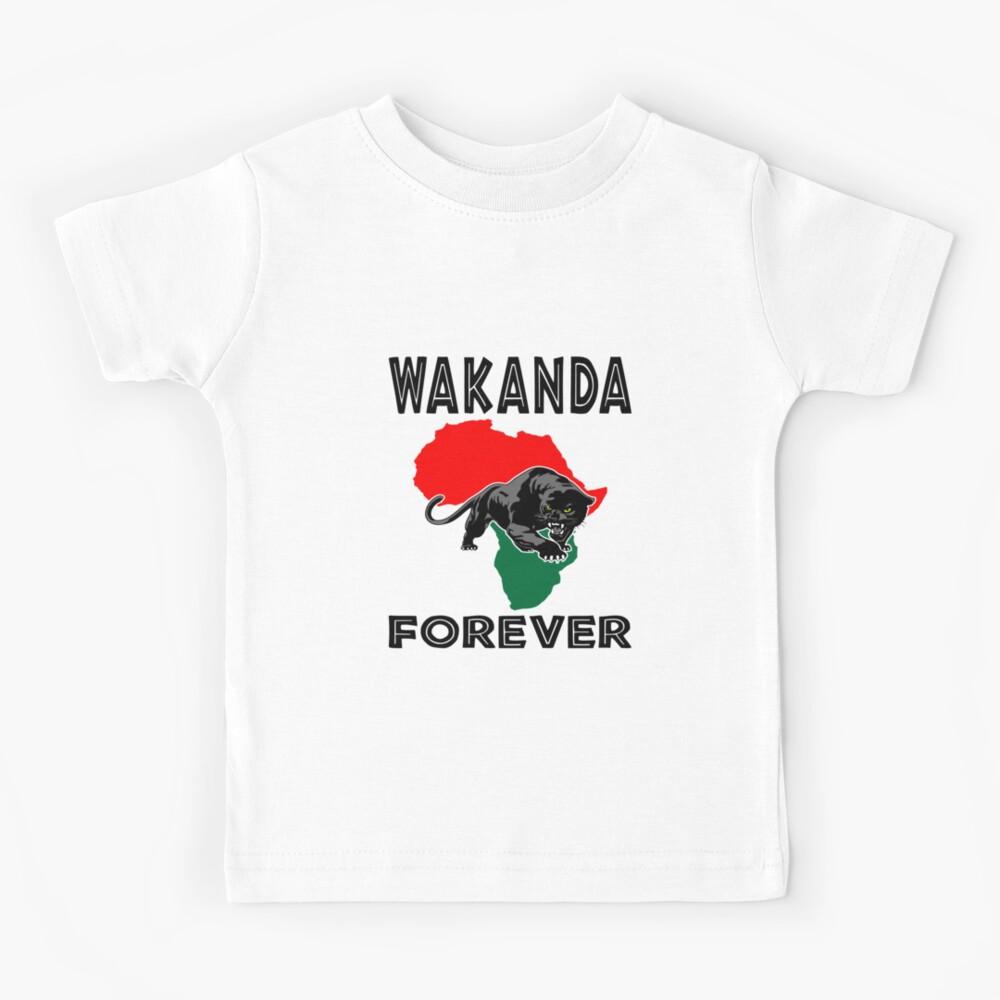 Wakanda Forever Black Panther T-shirt disponible Hommes Anniversaire Super Héros Enfants