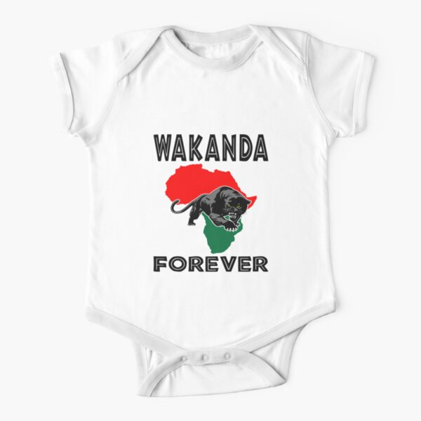 Wakanda Forever Panther Short Sleeve Baby One-Piece