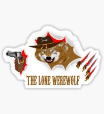 THE LONE WEREWOLF RIPPING OUT Sticker