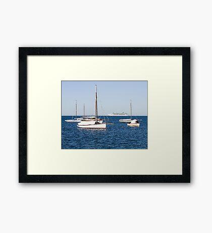 Sorrento Sailing Couta Boat Club Framed Print