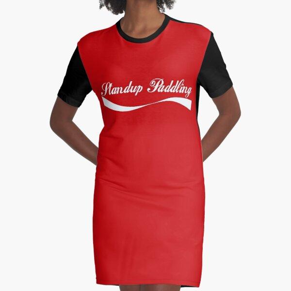 Enjoy Standup Paddling Graphic T-Shirt Dress