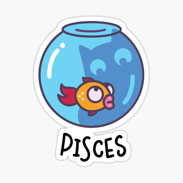 Funny Pisces Cat Horoscope Tshirt - Astrology and Zodiac Gift Ideas! Sticker
