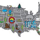 American roadtrip map by katiesplace