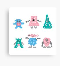 monsters family Canvas Print